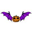 halloween pumpkin with bat wings