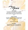 hend-drawn wedding menu template beautiful tender vector image vector image