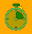 icon in flat design stopwatch vector image