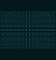 infinity data matrix visualization vector image vector image