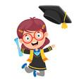 kid in graduation costume vector image vector image