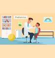 little boy in pediatrics office flat vector image vector image