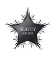 logo black star for fashion vector image vector image