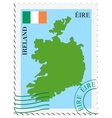 mail to-from Ireland vector image vector image