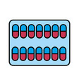 medical pharmaceutical capsules treatment icon vector image vector image