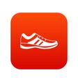 men sneakers icon digital red vector image vector image