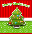 merry christmas decorative card vector image vector image