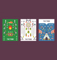 native american indian culture banner with icons vector image