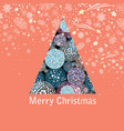 new year greeting card with a beautiful christmas vector image