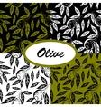 olive ptterns set vector image vector image