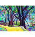 original digital painting of spring landscape vector image vector image