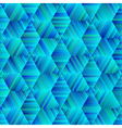 ornamental hexagonal blue and green pattern vector image