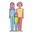 people characters cartoon vector image