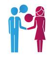 people pictogram cartoon vector image