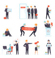 people searching and losing their jobs set vector image