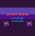 pixel game start choosing page player vector image