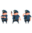 policeman in different poses vector image vector image