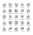 project management line icons set 18 vector image vector image