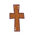religion wood cross catholic symbol vector image vector image