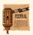 rock musica festival flyer vector image vector image