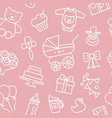 seamless background on theme vector image vector image