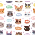 Seamless hipster cats pattern background vector image vector image