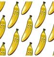 seamless pattern happy ripe yellow bananas vector image vector image