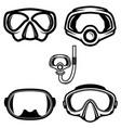 set diver masks design element for logo vector image