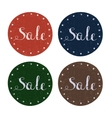 Set of colorful retro Sale labels vector image