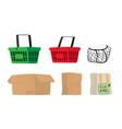set shopping bags isolated on white background