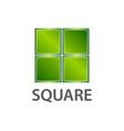 shiny green square logo concept design symbol vector image vector image