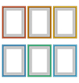 Six frames isolated on white vector image vector image