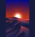 spaceship fleet flying over desert vector image vector image
