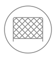 Sports nets line icon vector image vector image