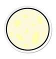 sticker cartoon doodle a full moon vector image vector image