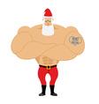 Strong Santa Claus Santa with big muscles Old vector image vector image