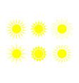 sun icons sunshine graphic shapes symbol vector image