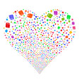 toilet paper roll fireworks heart vector image vector image