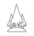 trees pines symbol vector image vector image