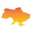 ukraine map colorful orange vector image vector image