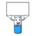 up board water bottle character cartoon vector image