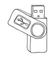 usb drive icon image vector image vector image