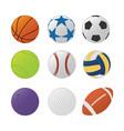 various sport ball set collection with various vector image vector image
