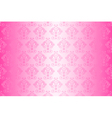 wallpaper vintage pattern pink wide vector image vector image