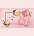 women s day greeting card vector image vector image