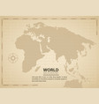world vintage background vector image vector image