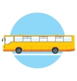yellow city bus vector image