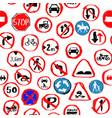 traffic sign seamless pattern design vector image