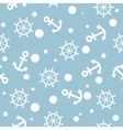 Seamless nautical pattern with white anchors and vector image