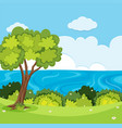 a nature view landscape vector image